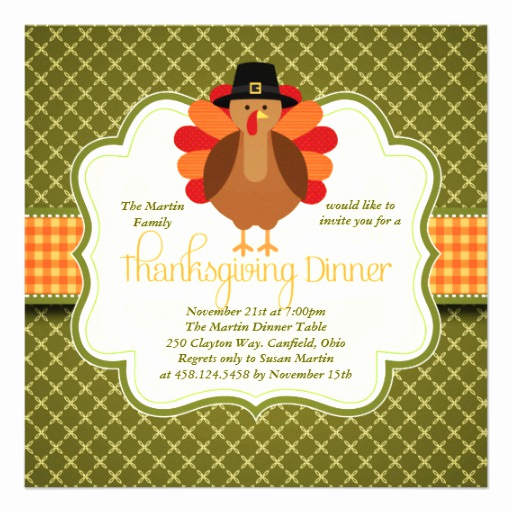 Free Thanksgiving Invitation Templates Inspirational Elegant Rustic Cute Turkey Thanksgiving Dinner Invitation