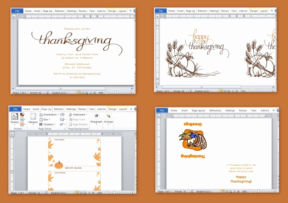 Free Thanksgiving Invitation Templates New Best Thanksgiving Templates for Microsoft Word