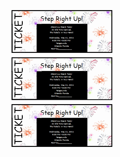 Free Ticket Invitation Template Awesome Invitation Templates