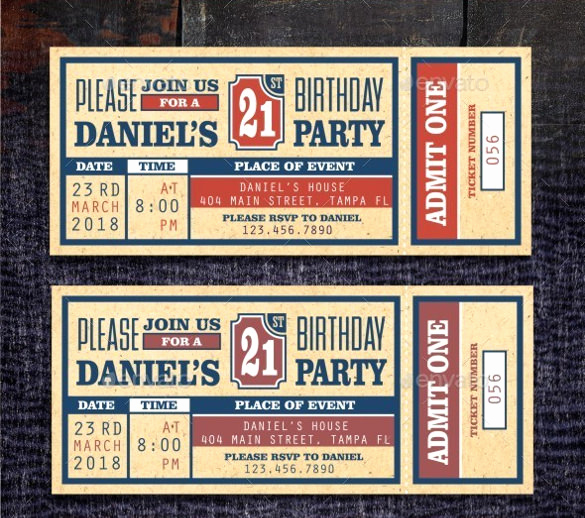 Free Ticket Invitation Template Elegant Baseball Ticket Template