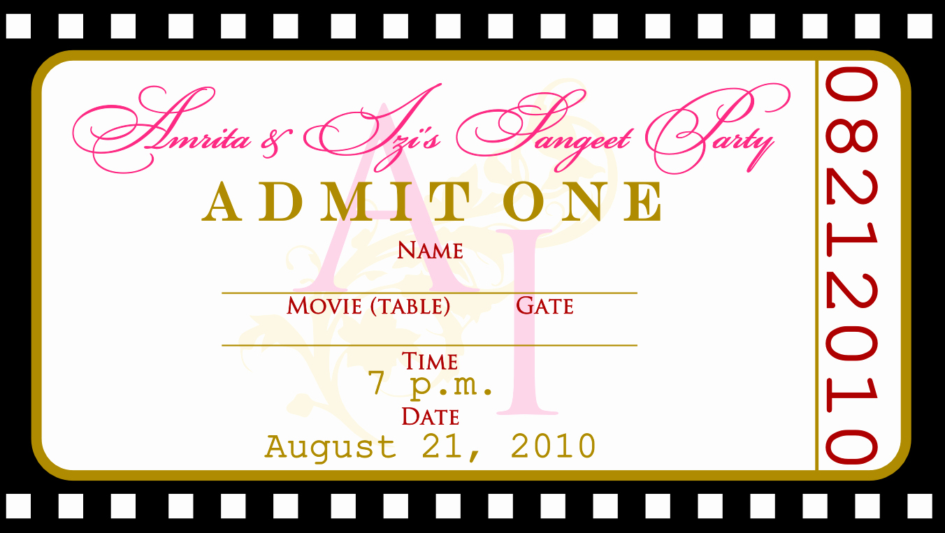 Free Ticket Invitation Template Elegant Free Templates for Birthday Invitations