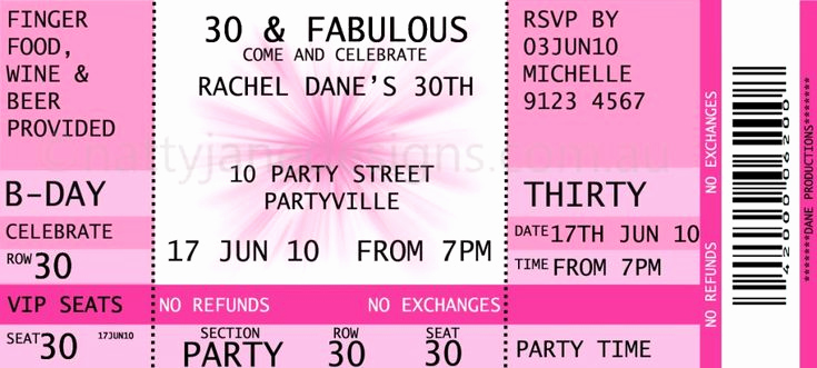 Free Ticket Invitation Template Unique Concert Ticket Invitations Template Free