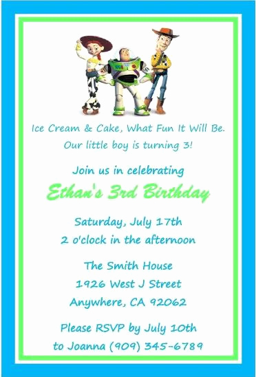 Free toy Story Invitation Template Awesome toy Story Birthday Party Invitations Favors Candy Water