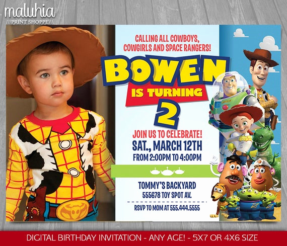 Free toy Story Invitation Template Best Of toy Story Invitation toy Story Invite Disney Pixar toy