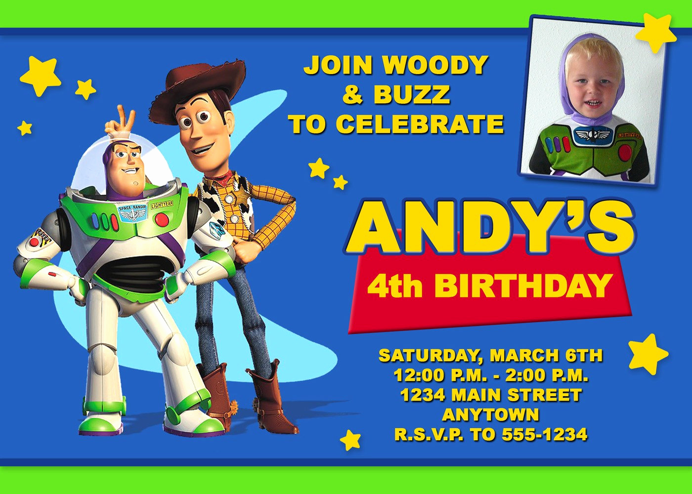 Free toy Story Invitation Template Elegant 40th Birthday Ideas toy Story Birthday Invitation