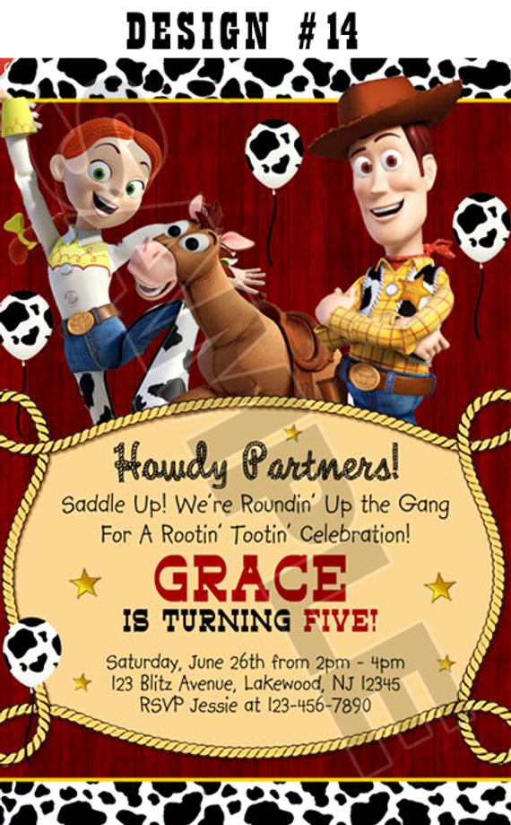 Free toy Story Invitation Template Elegant toy Story 1 2 & 3 Birthday Party Invitations Rodeo