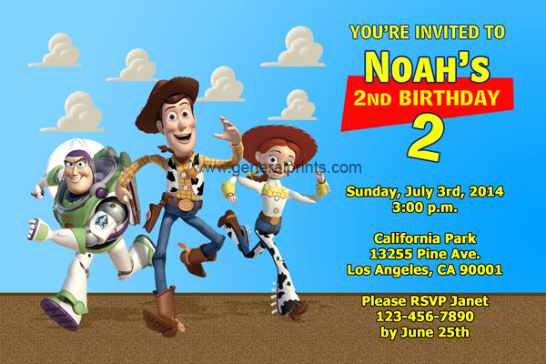 Free toy Story Invitation Template Fresh toy Story Invitations General Prints