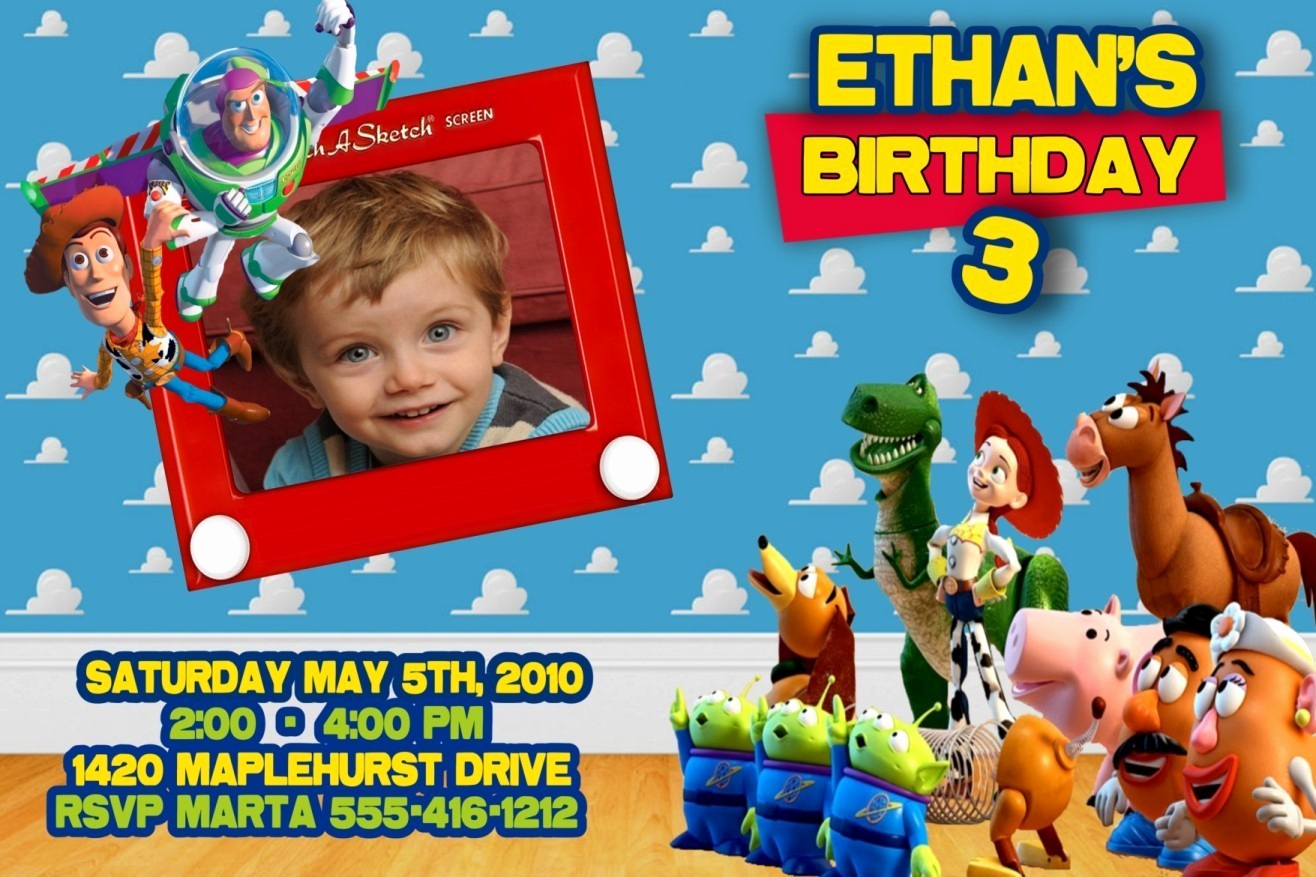 Free toy Story Invitation Template Inspirational toy Story Birthday Party Invitations