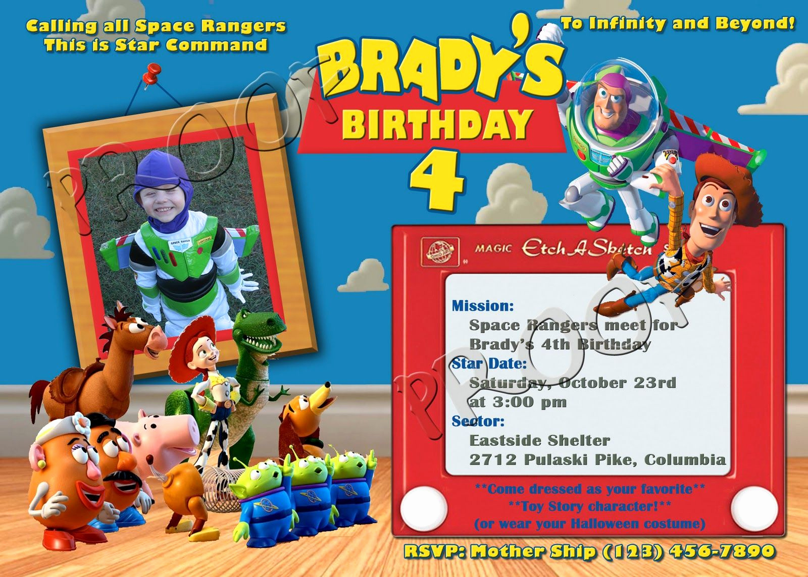 Free toy Story Invitation Template Lovely Pin by Angel Rosez On Birthday Invitation for Kids