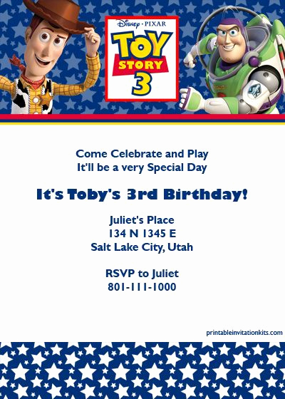 Free toy Story Invitation Template Lovely Pin by Juana arellano On Juanito S B Day