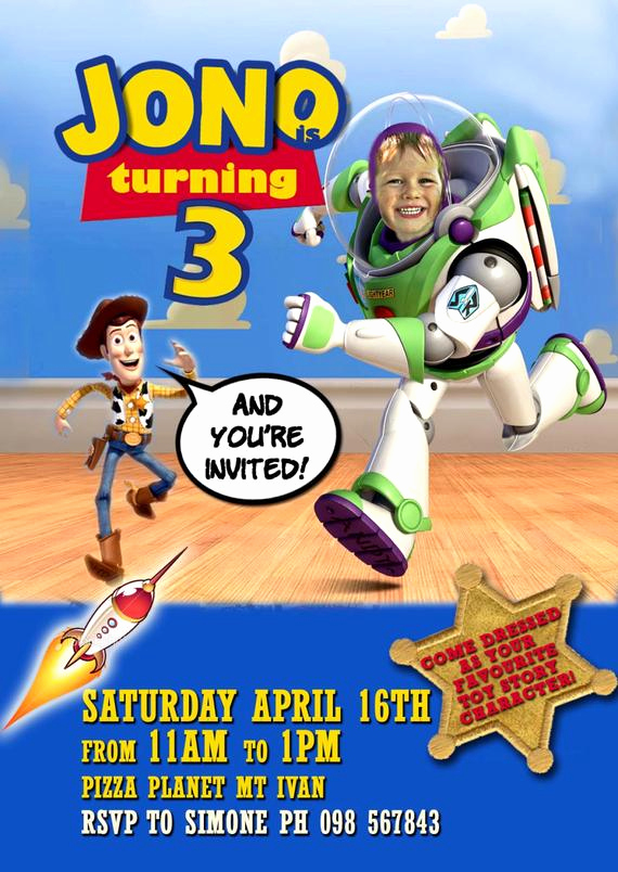 Free toy Story Invitation Template Lovely toy Story Party Printable Invitation with