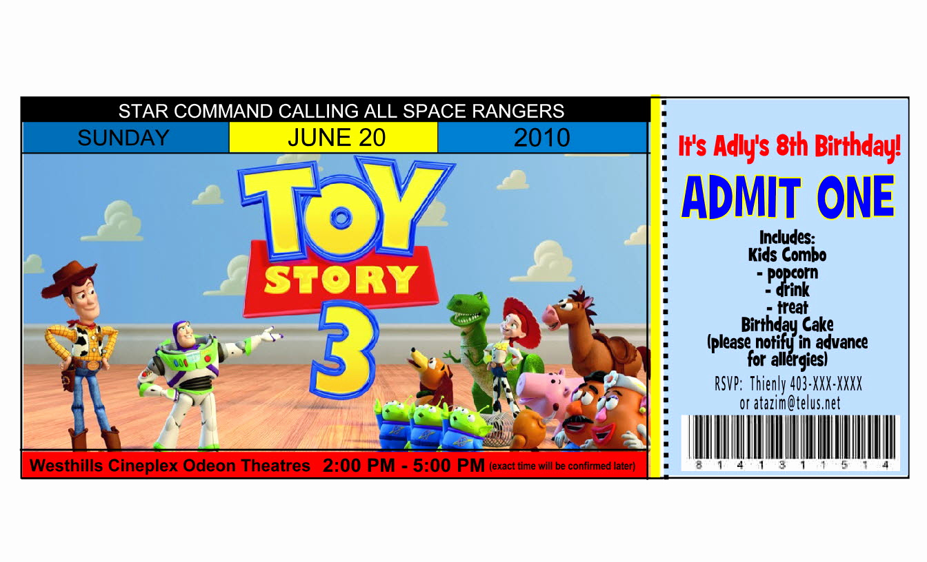 Free toy Story Invitation Template New Mod Paperie June 2010