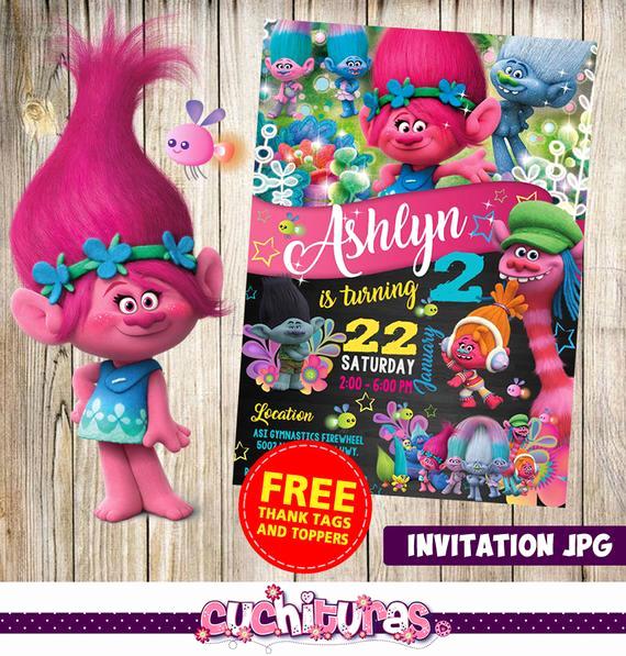 Free Trolls Invitation Template Best Of Trolls Invitation Trolls Party Trolls Birthday Invitation