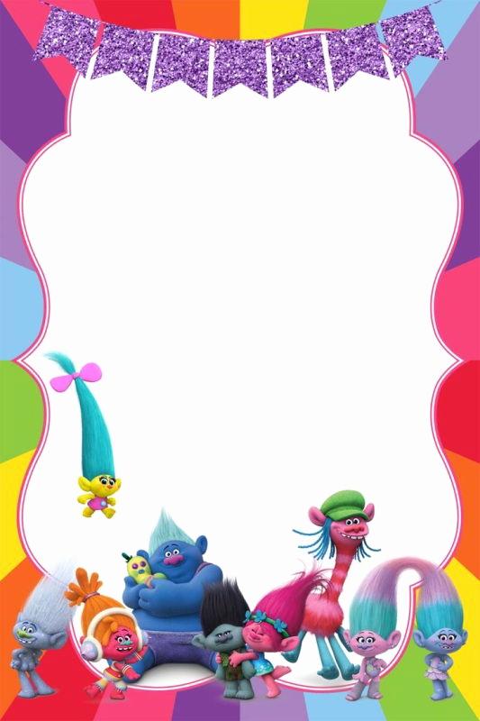 Free Trolls Invitation Template Fresh Birthday Party Invitation for Calling All Trolls