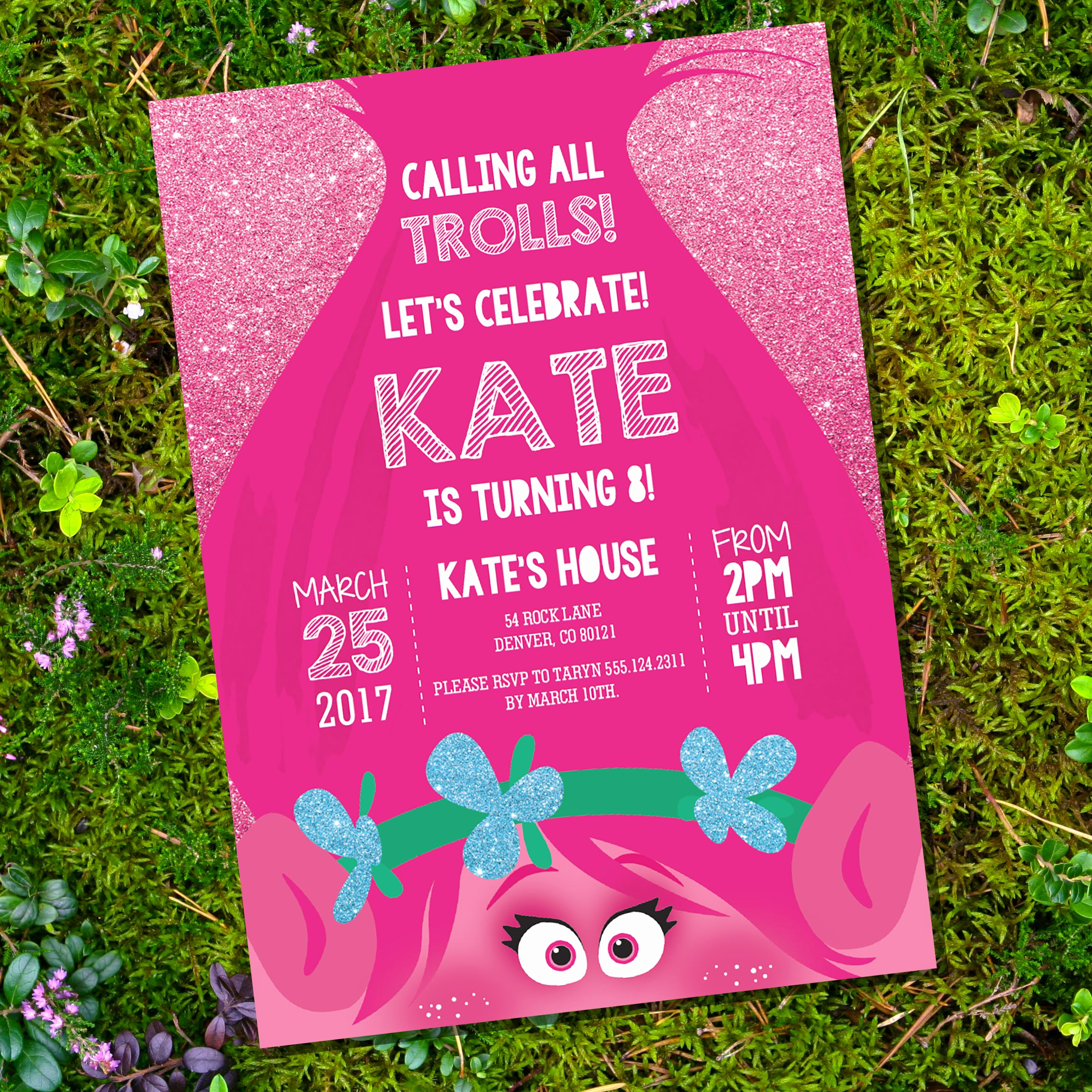 Free Trolls Invitation Template Lovely Free Trolls Party Download Set Including Invitation Decor