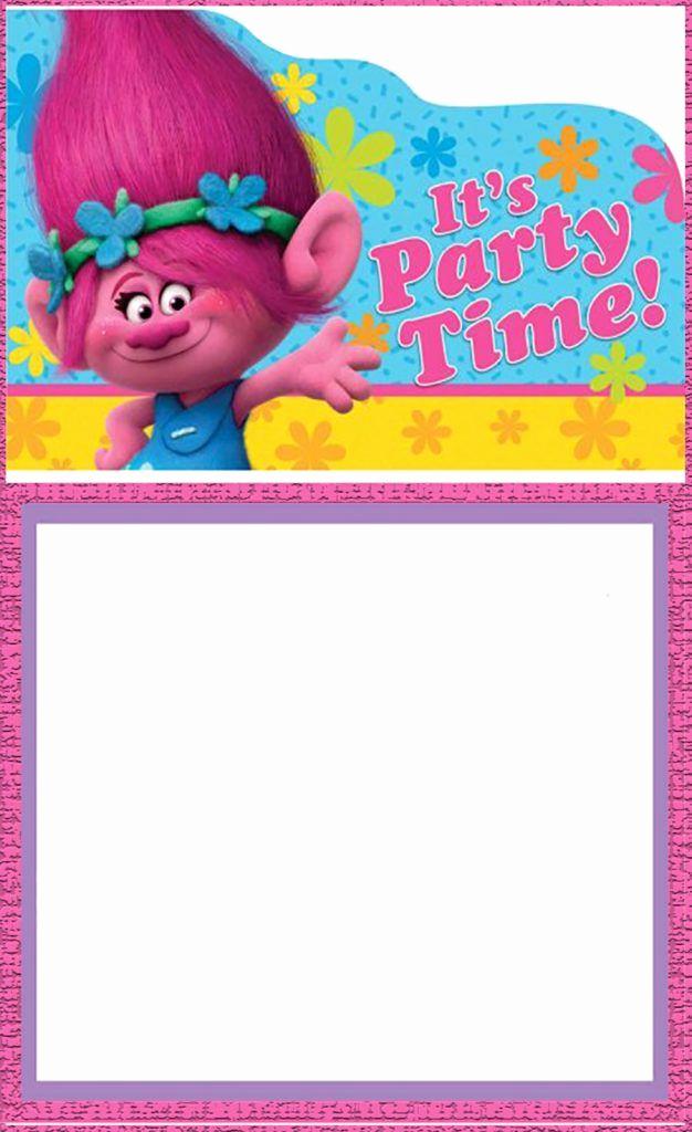 Free Trolls Invitation Template New Free Printable Trolls Invitation Card