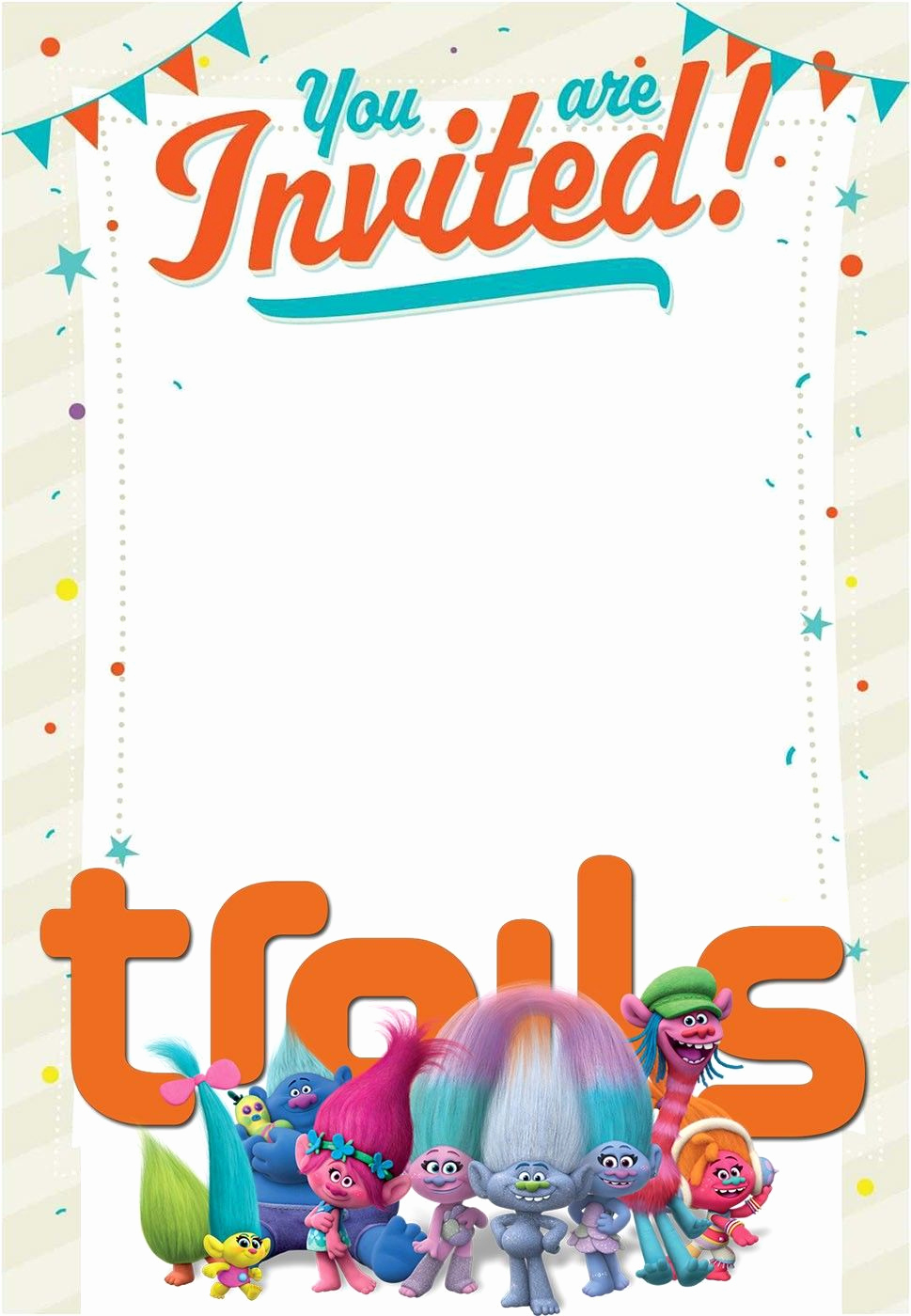 Free Trolls Invitation Template Unique Empty Trolls Invitation Card