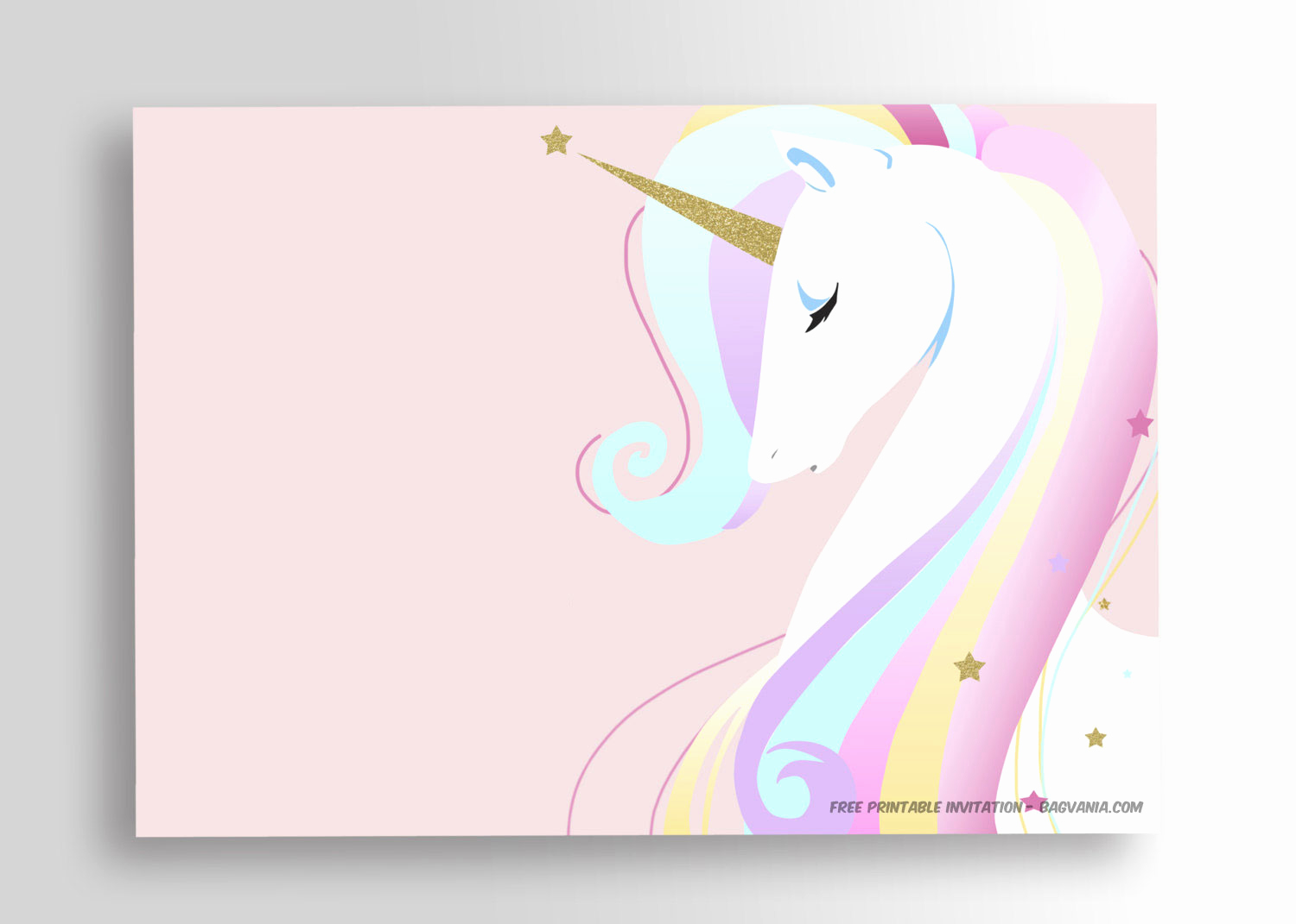 Free Unicorn Invitation Template Awesome Free Printable Golden Unicorn Birthday Invitation Template