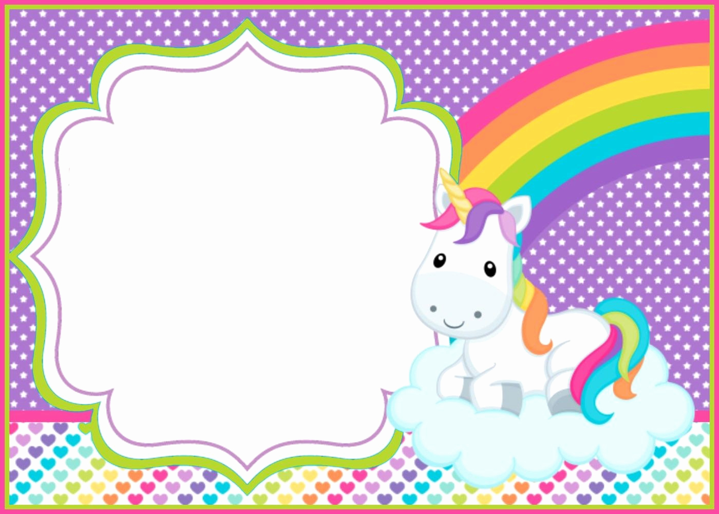 Free Unicorn Invitation Template Elegant Unicorn Template