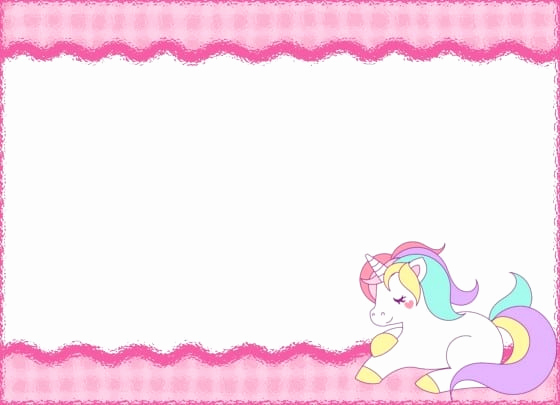 Free Unicorn Invitation Template Inspirational Unicorn Invitation Layout