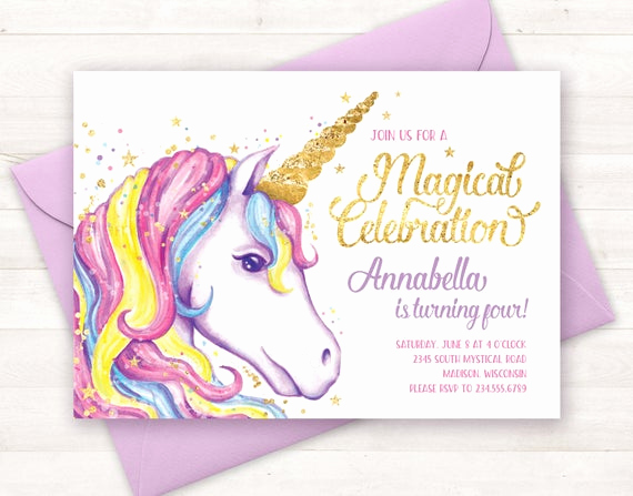 Free Unicorn Invitation Template Inspirational Unicorn Invitation Unicorn Birthday Invitation Unicorn Party