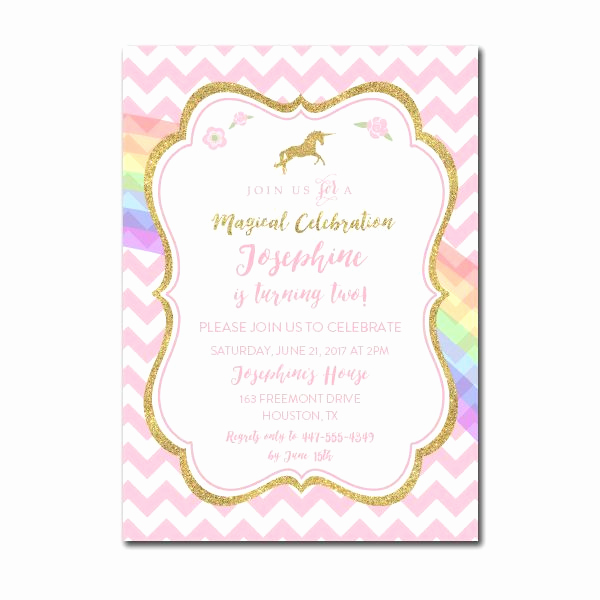 Free Unicorn Invitation Template Luxury Free Printable Editable Pdf Birthday Party Invitation Diy