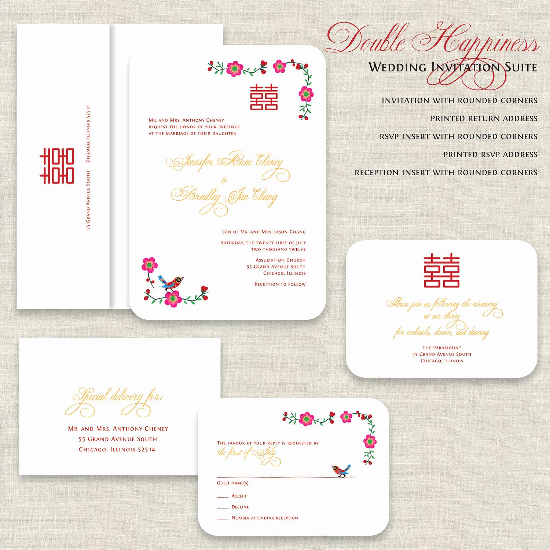 Free Vietnamese Wedding Invitation Template Best Of Chinese Wedding Invitations Double Happiness Wedding