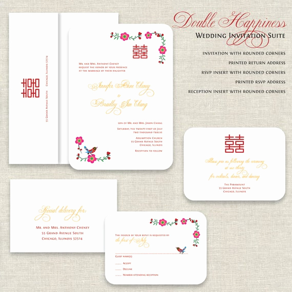 Free Vietnamese Wedding Invitation Template Fresh Chinese Wedding Invitations Double Happiness Wedding