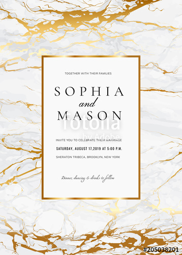 "Free Vietnamese Wedding Invitation Template Fresh ""luxury Wedding Invitation Cards with Gold Marble Texture"