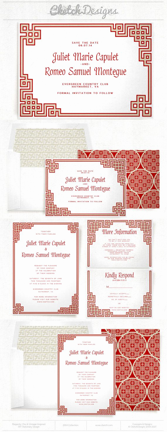 Free Vietnamese Wedding Invitation Template Unique oriental Chinese Wedding Invitation and Save the Date