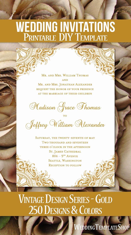 Free Vintage Wedding Invitation Templates Awesome Best 25 Printable Wedding Invitations Ideas On Pinterest