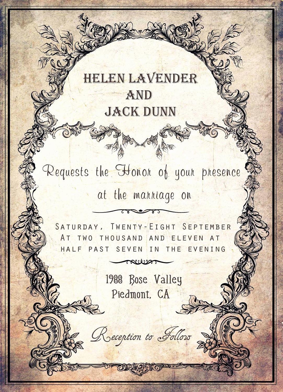 Free Vintage Wedding Invitation Templates Awesome Silver Wedding Invitations Free Wedding Invitation Templates