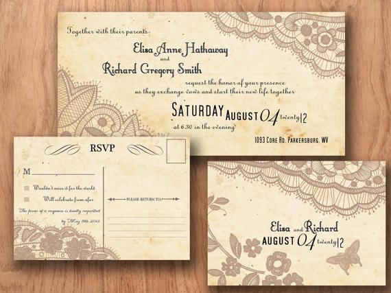 Free Vintage Wedding Invitation Templates Beautiful Free Postcard Invitation Templates Printable