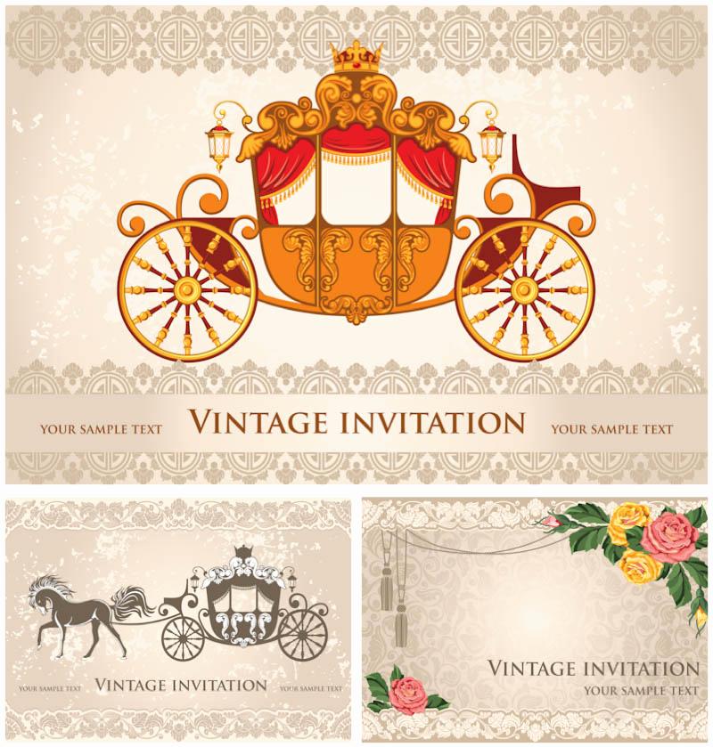 Free Vintage Wedding Invitation Templates Elegant Wedding