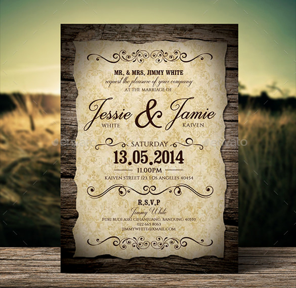 Free Vintage Wedding Invitation Templates Fresh 19 Second Marriage Wedding Invitation Templates – Free