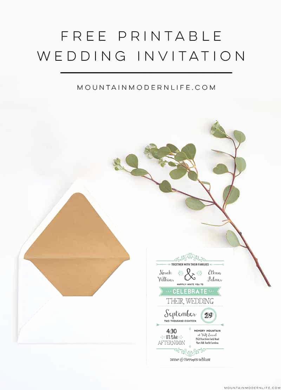 Free Vintage Wedding Invitation Templates Fresh Free Wedding Invitation Template