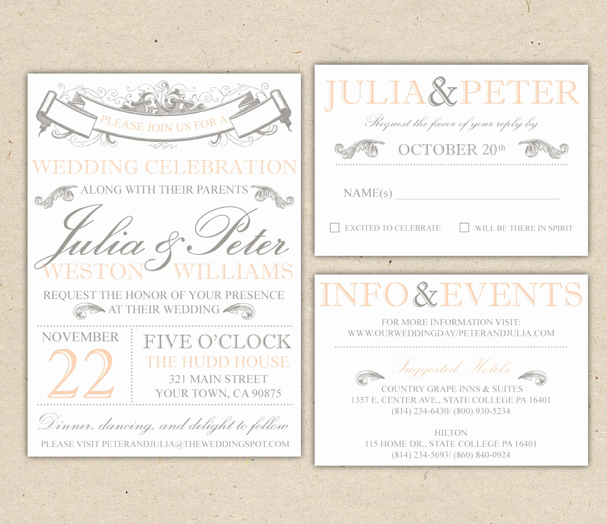 Free Vintage Wedding Invitation Templates Lovely Vintage Modern Wedding Invitation Prints Custom by