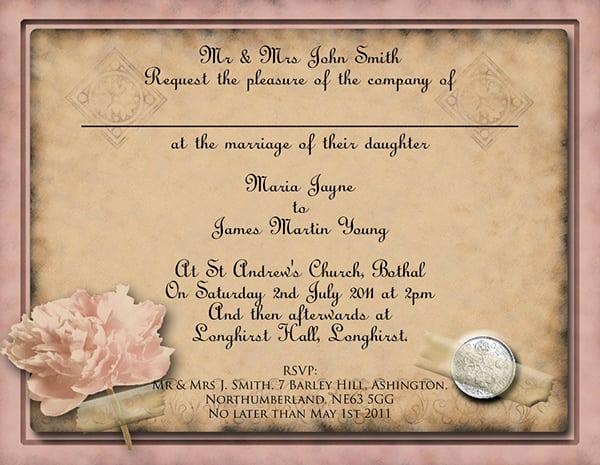 Free Vintage Wedding Invitation Templates Lovely Wedding Invitation Vintage Template