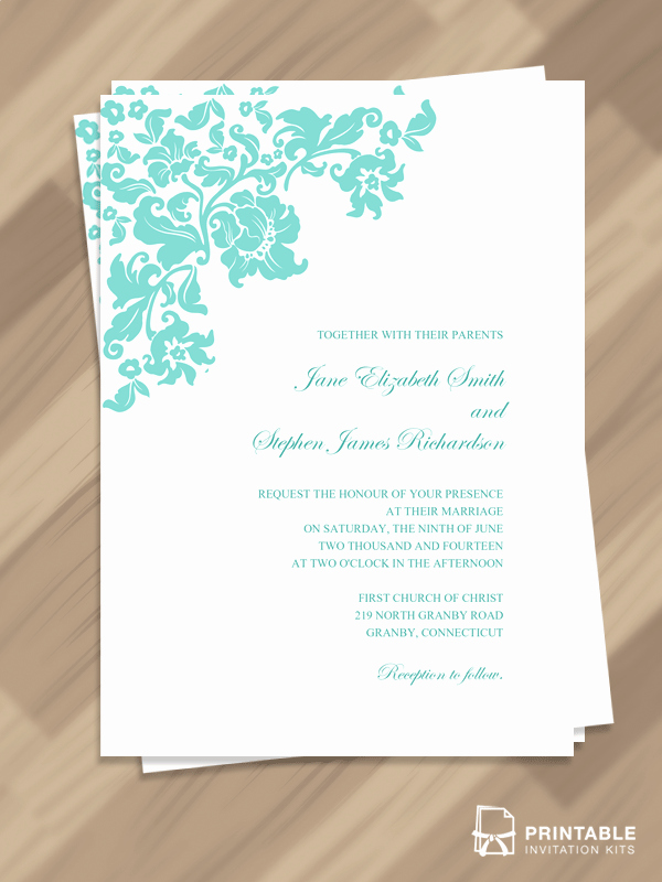 Free Vintage Wedding Invitation Templates Luxury Free Pdf Download Pretty Vintage Border Wedding Invitation