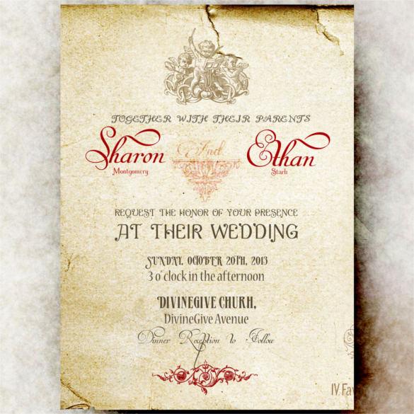 Free Vintage Wedding Invitation Templates New 24 Vintage Wedding Invitation Templates Psd Ai