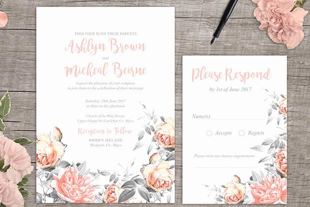 Free Wedding Invitation Printable Templates Beautiful 10 Free Wedding Invitation Templates