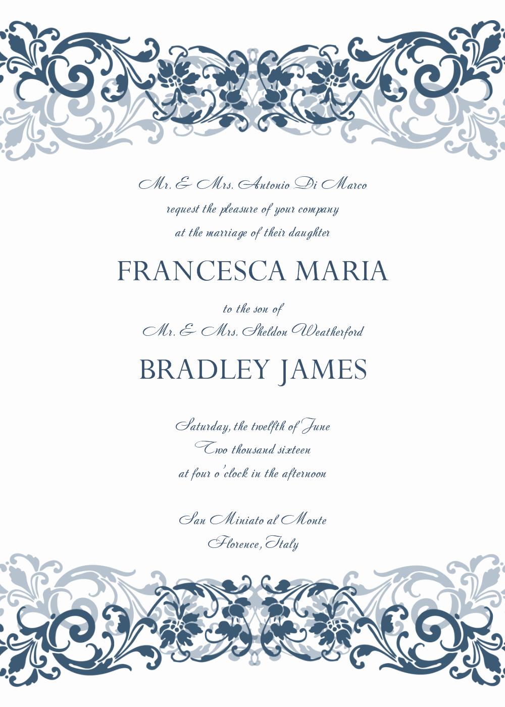 Free Wedding Invitation Printable Templates Best Of 8 Free Wedding Invitation Templates Excel Pdf formats