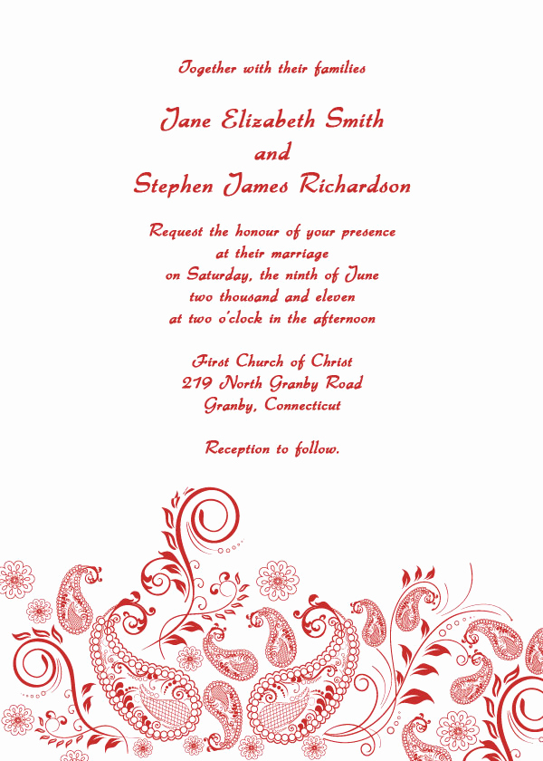 Free Wedding Invitation Printable Templates Lovely Paisley Vintage Printable Wedding Invitation Template