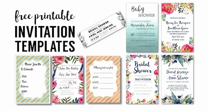 Free Wedding Invitation Printable Templates Lovely Party Invitation Templates Free Printables Paper Trail