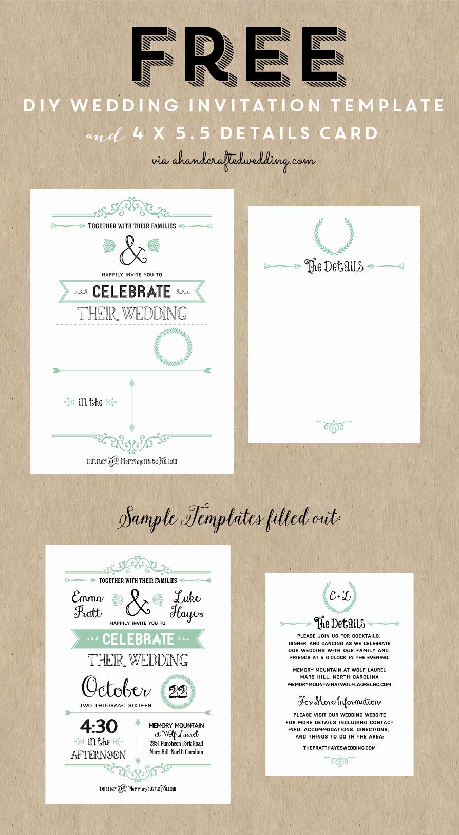Free Wedding Invitation Printable Templates Luxury Best 25 Free Wedding Invitation Templates Ideas On