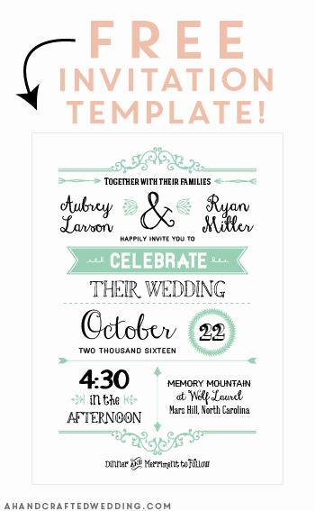 Free Wedding Invitation Printable Templates New Free Printable Wedding Invitation Template