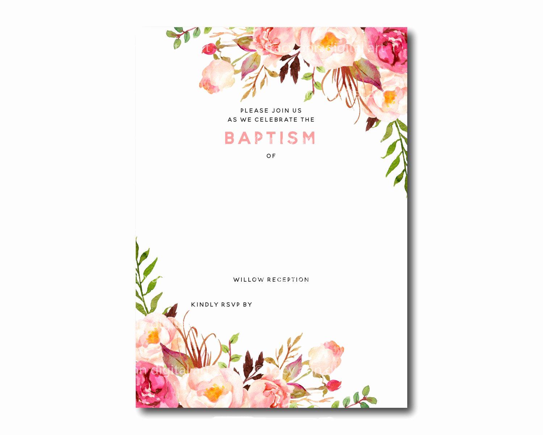 Free Wedding Invitation Printable Templates Unique Awesome Free Template Free Printable Baptism Floral