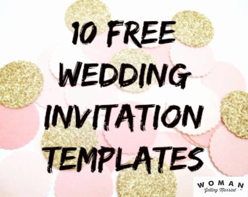 Free Wedding Invitation Printable Templates Unique Diy Wedding Invitations Our Favorite Free Templates