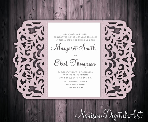 Free Wedding Invitation Svg Files Inspirational 5x7 Gate Fold Wedding Invitation Card Template Quinceanera
