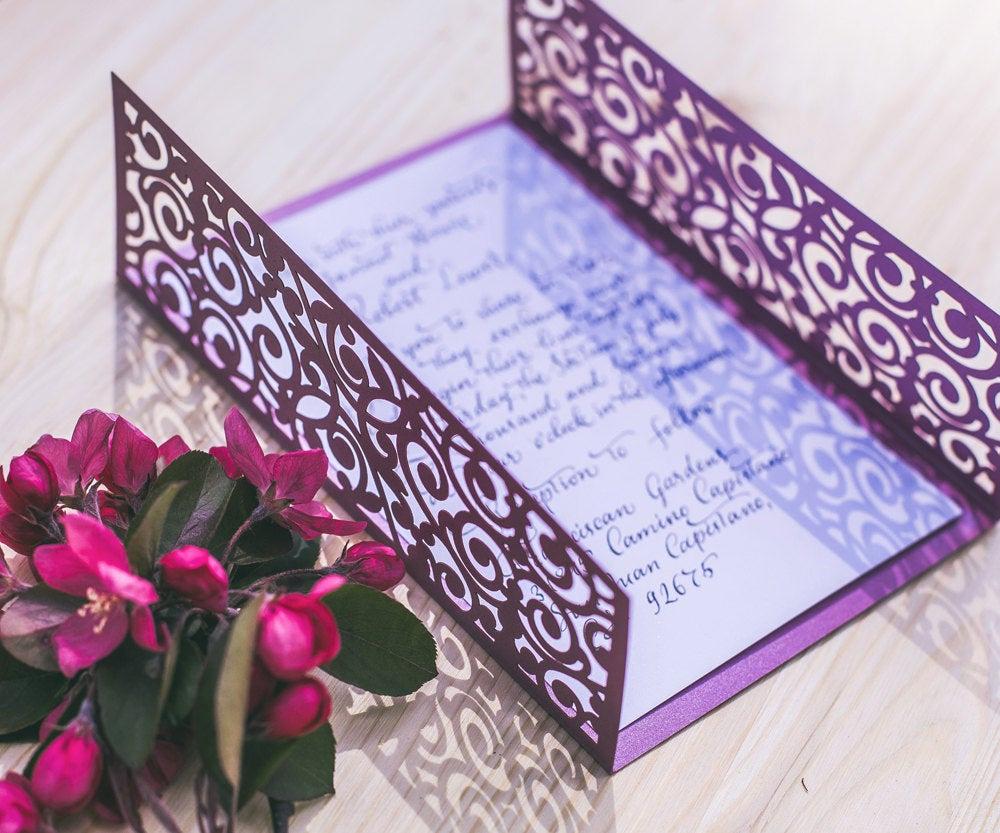Free Wedding Invitation Svg Files Lovely Digital Vector Template for Laser Cut Wedding Invitation